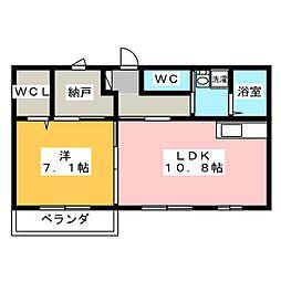 レインボー清風[2階]の間取り