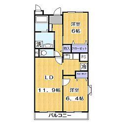 パープルタウン[2階]の間取り