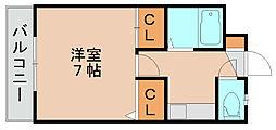 ストリームライン箱崎Ⅱ[4階]の間取り