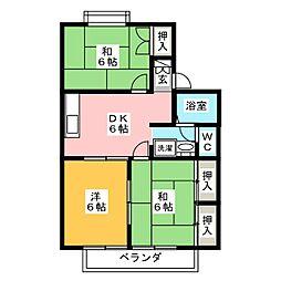 セジュール柧A[2階]の間取り