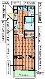 東京都荒川区西尾久2丁目の賃貸マンションの間取り
