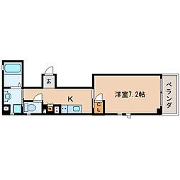 静岡県静岡市駿河区曲金6丁目の賃貸マンションの間取り