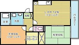 リバーフィールドⅡ[2階]の間取り