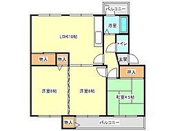 兵庫県神戸市垂水区狩口台4丁目の賃貸マンションの間取り