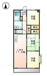シャリテ西味鋺N棟[4階]の間取り