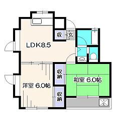 東京都西東京市東町2丁目の賃貸アパートの間取り