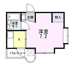 静岡県三島市南町の賃貸マンションの間取り
