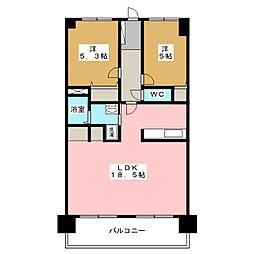 筥松小南エクセル35[3階]の間取り