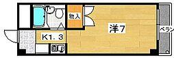 セジュール長尾[3階]の間取り