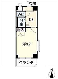 フラット柴田[6階]の間取り
