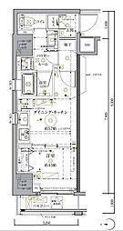 JR総武本線 馬喰町駅 徒歩5分の賃貸マンション 9階1DKの間取り