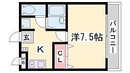 リトルバードD[3階]の間取り