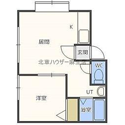 グランシュール39[2階]の間取り