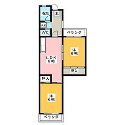 丸山ハウジングセンターBD[2階]の間取り
