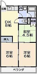 三重県松阪市山室町の賃貸アパートの間取り