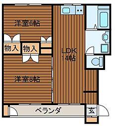 高橋マンション[1階]の間取り