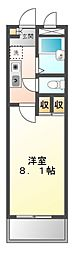 愛知県名古屋市緑区西神の倉2の賃貸アパートの間取り