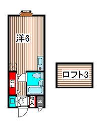 ベルピア南浦和第2(芝富士)[2階]の間取り