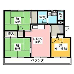 コスモスイトウ[2階]の間取り