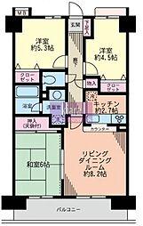 横浜南太田ホームズ[8階]の間取り