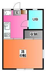 マーブルコーポ[1階]の間取り