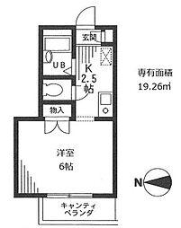 東京都練馬区石神井町2丁目の賃貸マンションの間取り