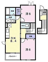 新潟県新潟市江南区二本木2丁目の賃貸アパートの間取り