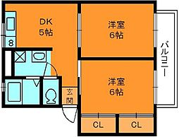 ハッピーホーム[2階]の間取り