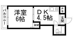 ロータリーマンション萱島[0308号室]の間取り