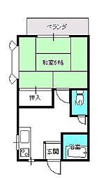 メゾン新川田[203号室]の間取り