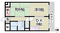ハイツ新神戸[1階]の間取り