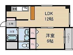 THKマンション[6階]の間取り