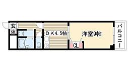 ユーハイツ三和II[402号室]の間取り