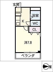 旭ビル[6階]の間取り