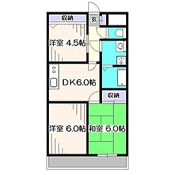 クレインマンション[3階]の間取り