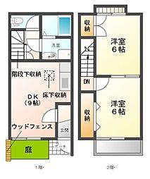 [テラスハウス] 愛知県清須市鍋片3丁目 の賃貸【/】の間取り