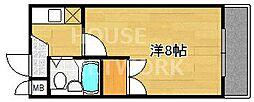 ピュアー紙屋川[206号室号室]の間取り