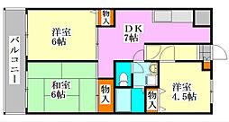 メゾンドール・カムイβ館[1階]の間取り