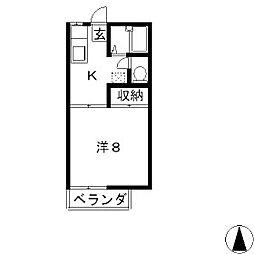 グランデュール出井3.4[2階]の間取り