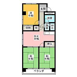 桜台ハイツ[1階]の間取り