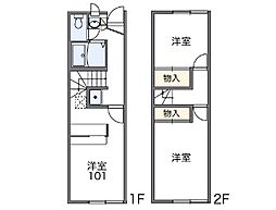 [テラスハウス] 長野県松本市寿中1丁目 の賃貸【/】の間取り