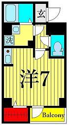 JR高崎線 尾久駅 徒歩3分の賃貸マンション 1階ワンルームの間取り