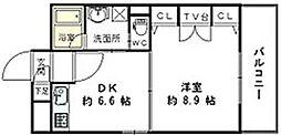 福岡県北九州市小倉北区京町4丁目の賃貸マンションの間取り