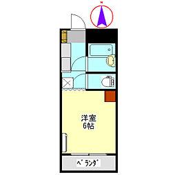 コーポ大桜II[403号室]の間取り