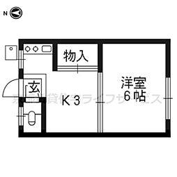 西桧荘[2階]の間取り