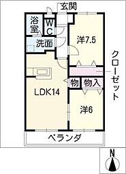第Iコンフォ−ト[1階]の間取り
