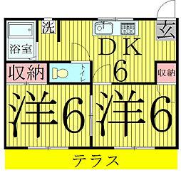 フジハイツI[1階]の間取り