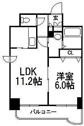 北海道札幌市中央区北一条東5丁目の賃貸マンションの間取り