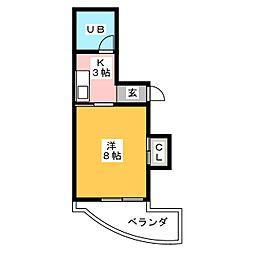 メモリープラザ大橋[6階]の間取り