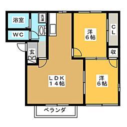 プライムG[2階]の間取り